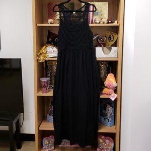 Xhilaration Black Knit Top Maxi Dress